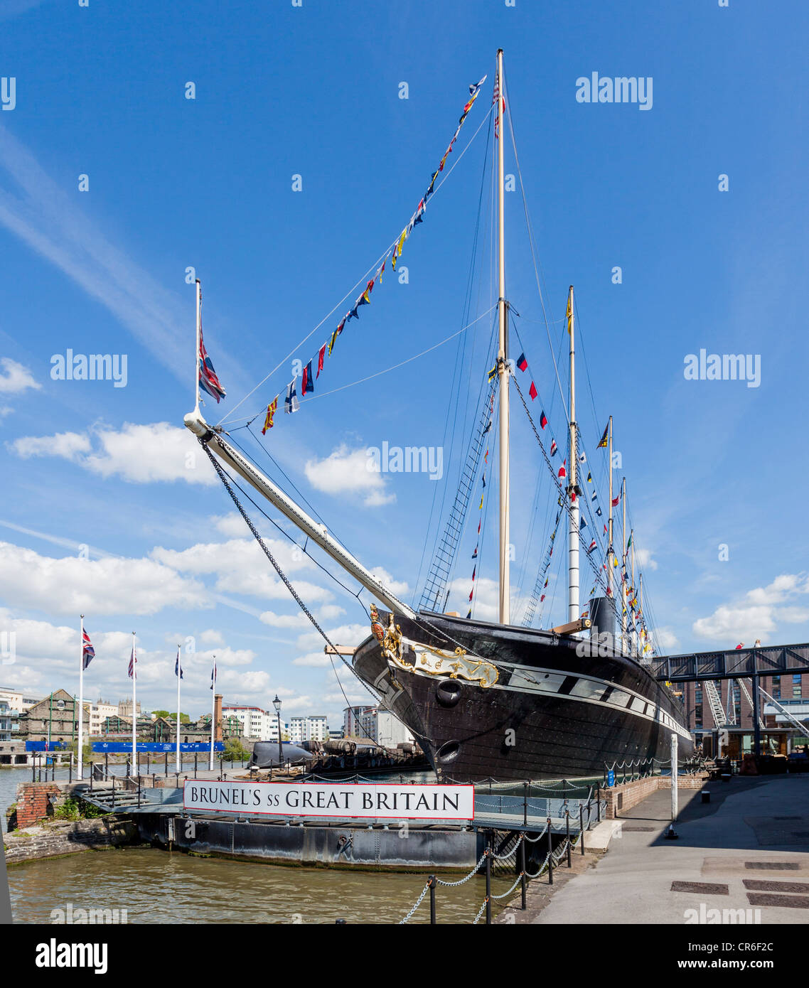 SS Great Britain in dry dock Bristol - Stock Image