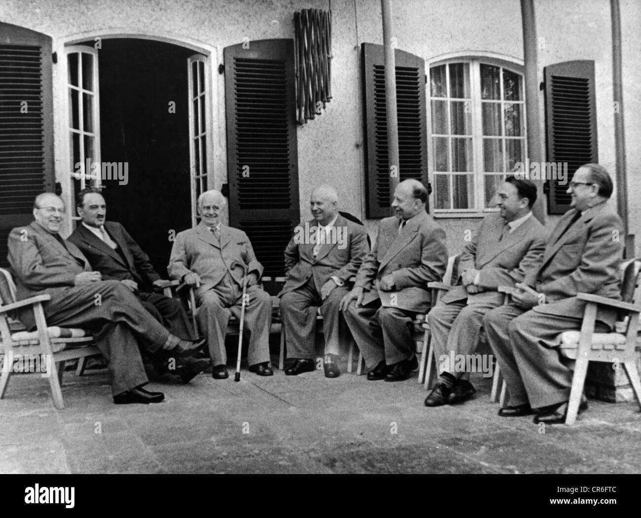 Khrushchev, Nikita Sergeyevich, 17.4.1894 - 11.9.1971, First Sekretary of CPSU 7.9.1953 - 14.10.1964, state visit - Stock Image