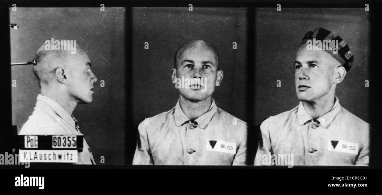 Langbein, Hermann, 18.5.1912 - 24.10.1995, Austrian author / writer, as prisoner in Auschwitz concentration camp, - Stock Image