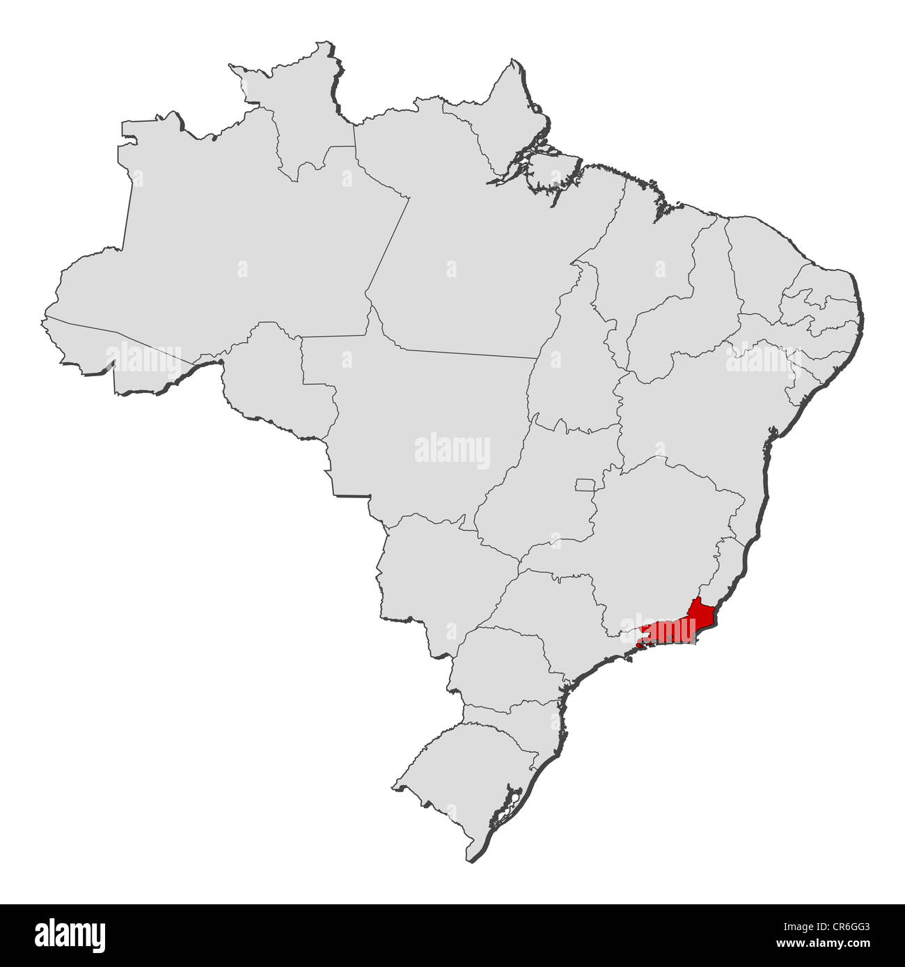 map of brazil rio Political Map Of Brazil With The Several States Where Rio De map of brazil rio