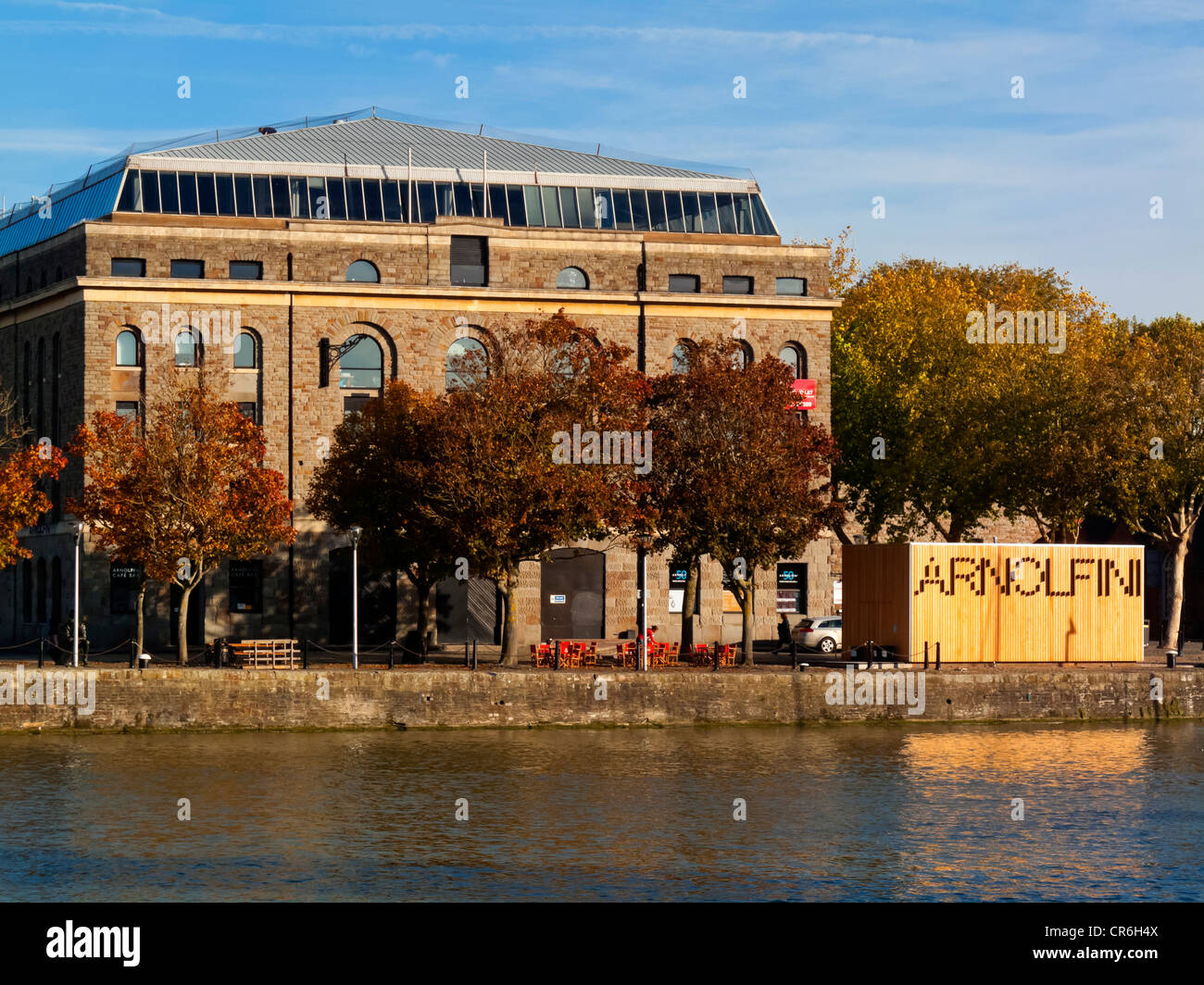 The Arnolfini Arts Centre and Gallery in Bristol Harbour England UK which opened at its present site in 1975 - Stock Image