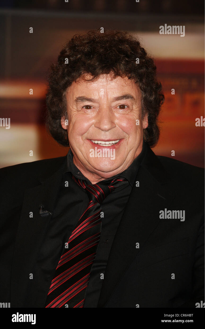 Marshall, Tony, * 3.2.1938, German singer, portrait, guest at TV show 'Johannes B. Kerner', Hamburg, 4.3.2008, - Stock Image
