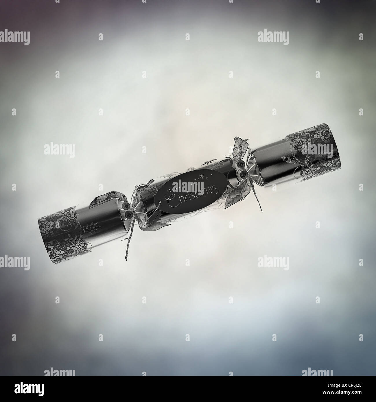 single christmas cracker - Stock Image