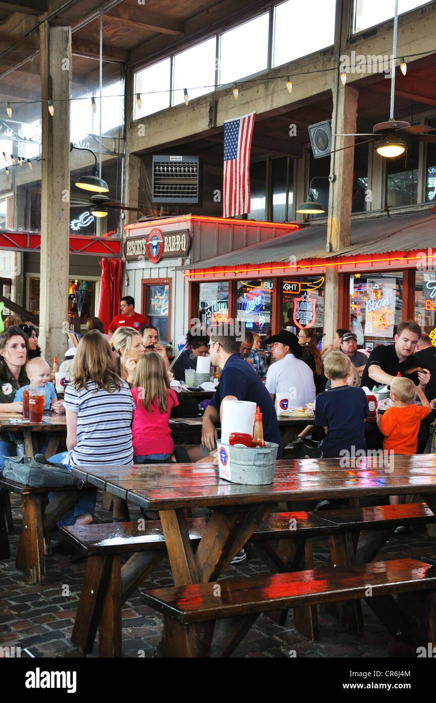 Ricky S Bbq Restaurant Fort Worth Stockyards Texas Usa