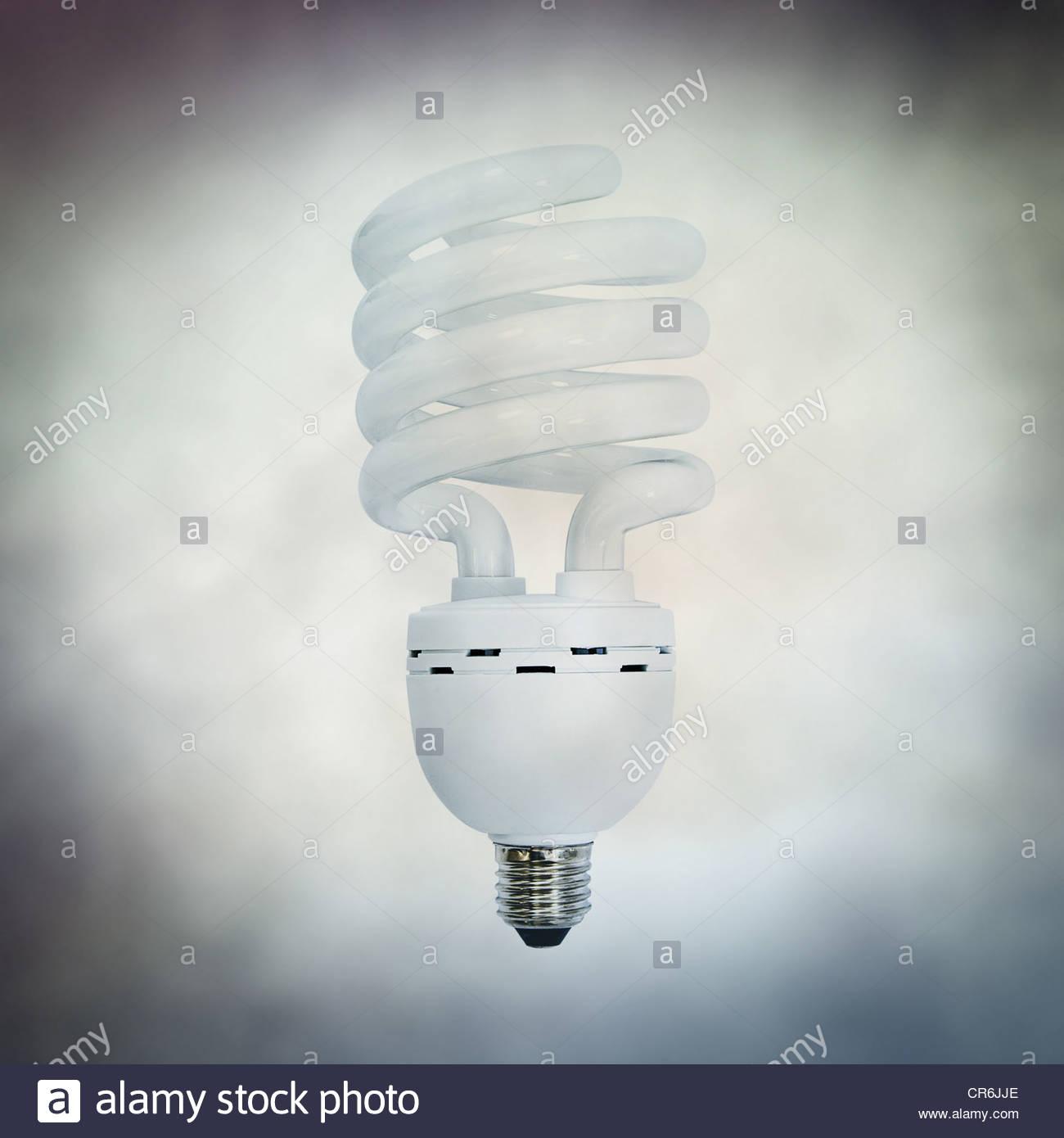 Fluorescent bulb - Stock Image