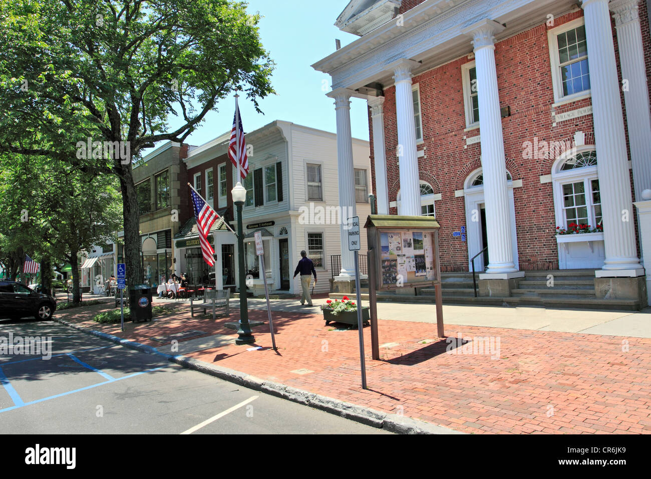 Village Hall Town of Southampton Long Island NY - Stock Image