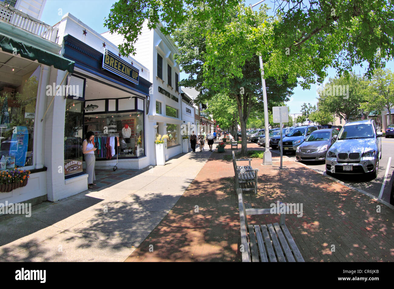 main street town of southampton long island ny stock photo 48704191 alamy. Black Bedroom Furniture Sets. Home Design Ideas