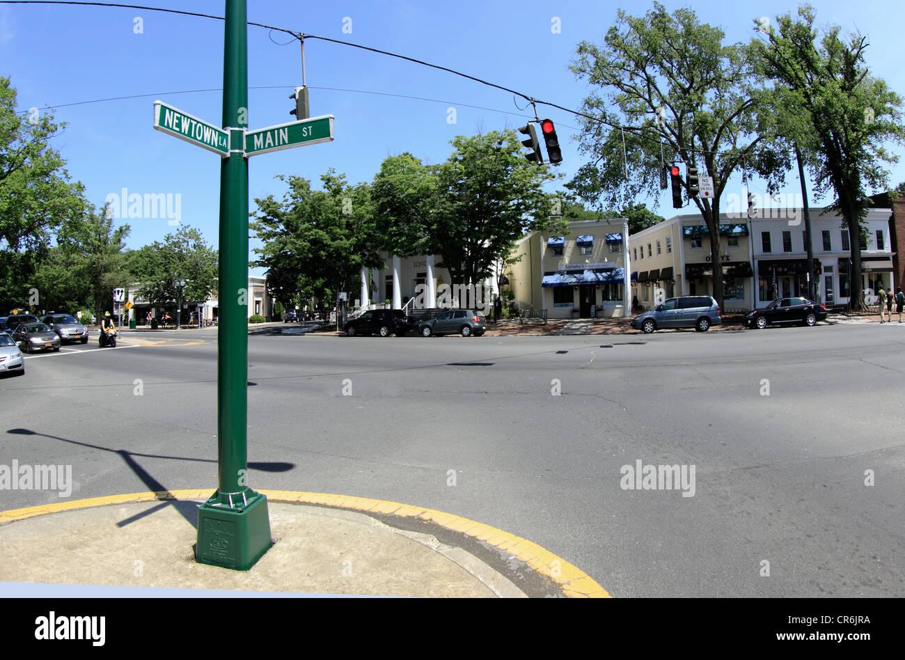 Main St. East Hampton Long Island New York - Stock Image