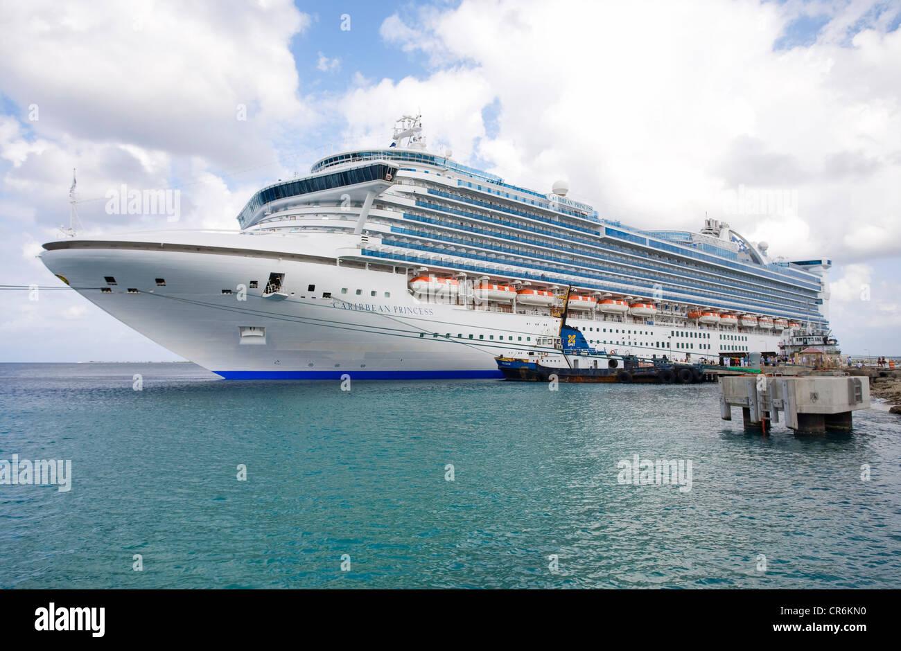 Caribbean Princess cruise ship at the Port