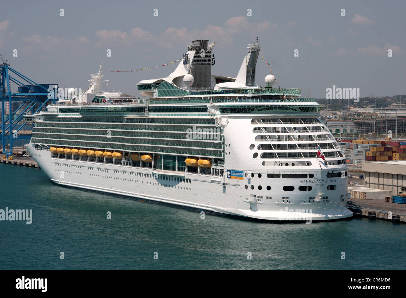 Cruise ship, Navigator of the Seas, berthed at Civitavecchia, Italy - Stock Image