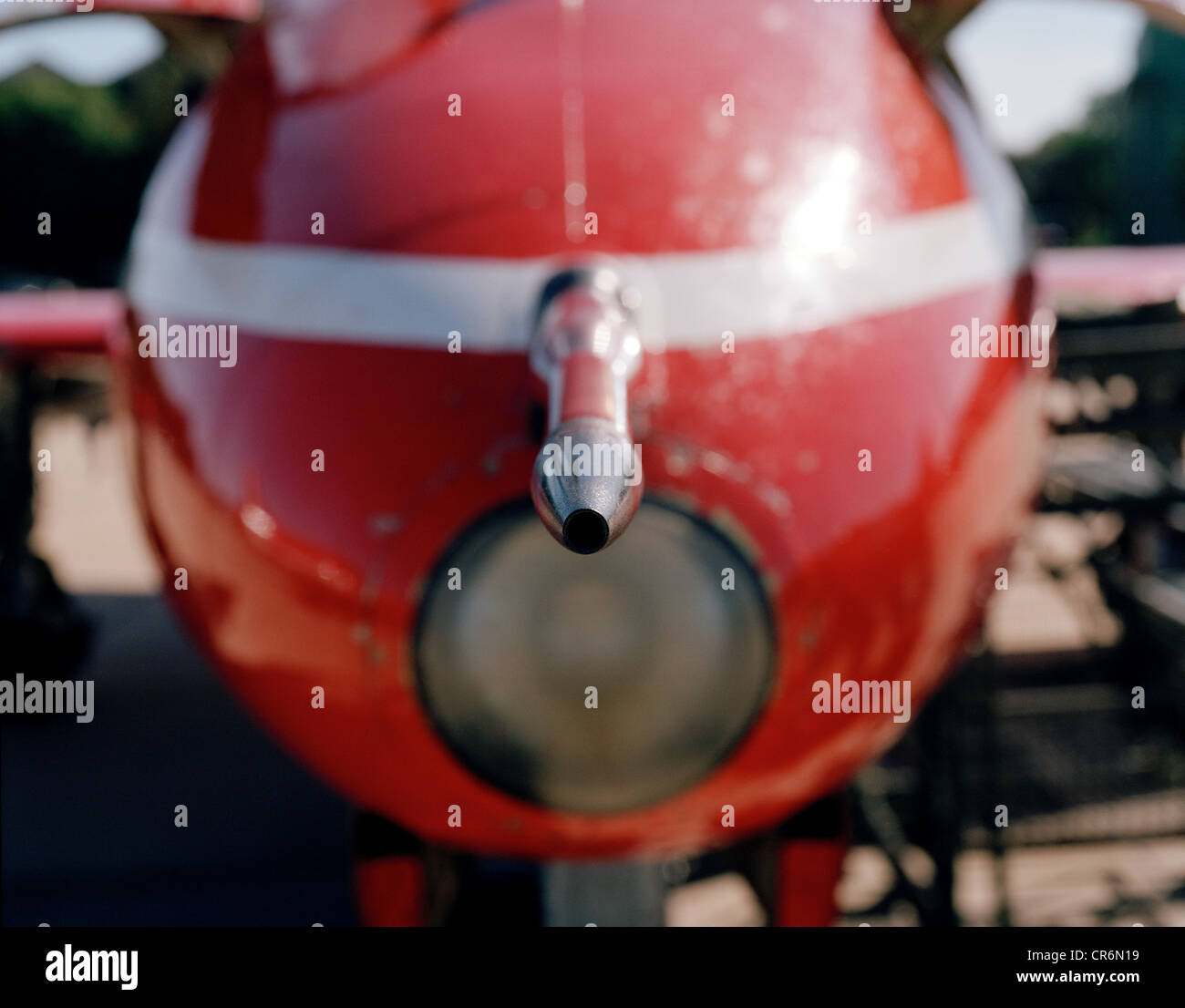 Airspeed Pitot Tube On Nose Of Bae Systems Hawk T1 Of The Red