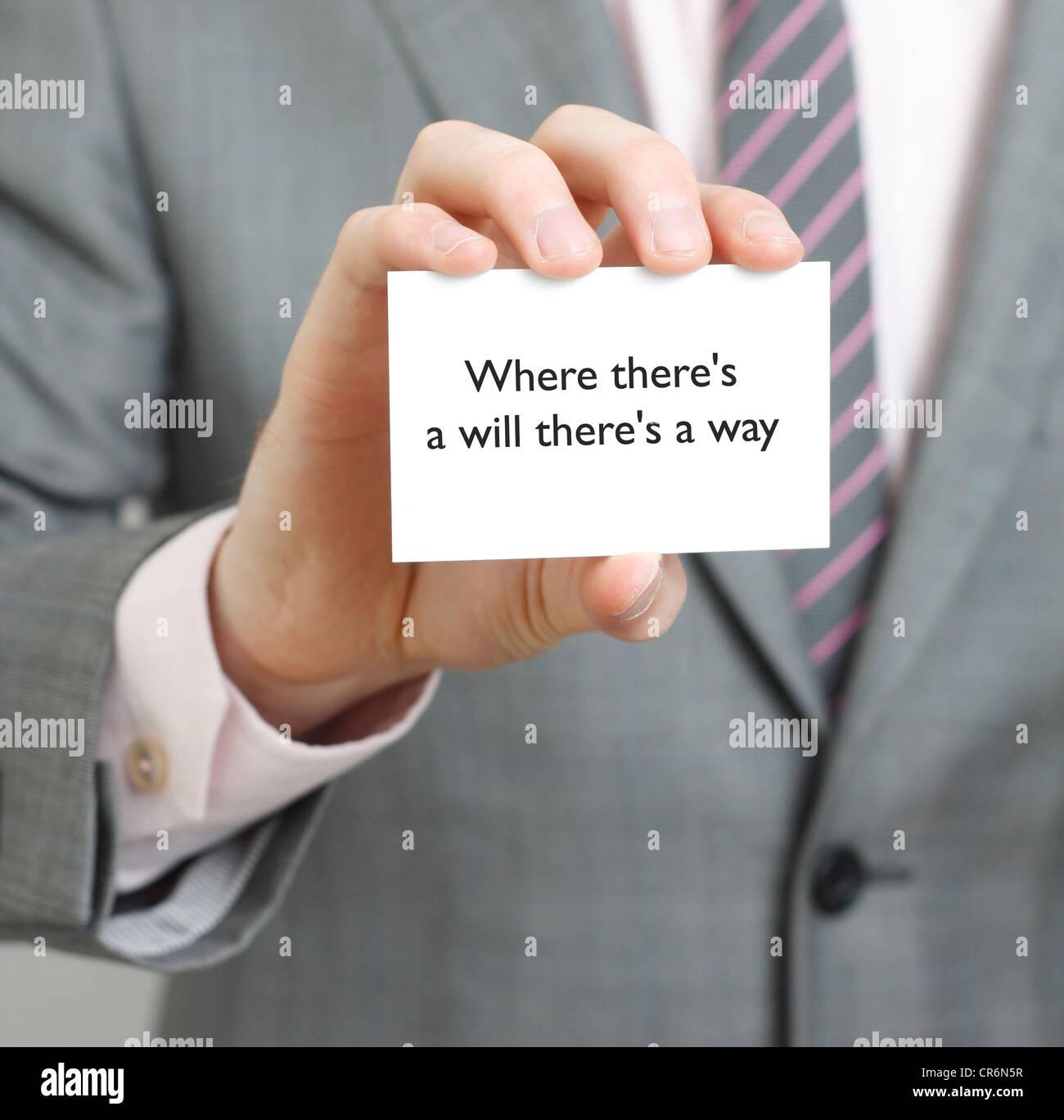 Saying - Stock Image