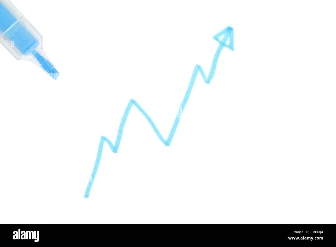 Stock curve - Stock Image