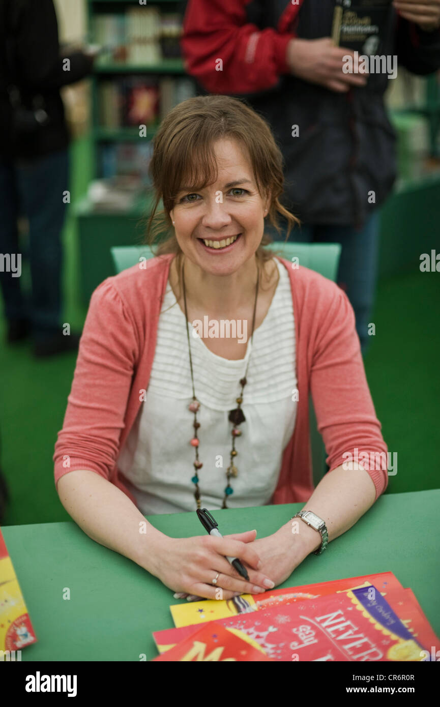 Tracey Corderoy, children's book author pictured at The Telegraph Hay Festival 2012, Hay-on-Wye, Powys, Wales, - Stock Image