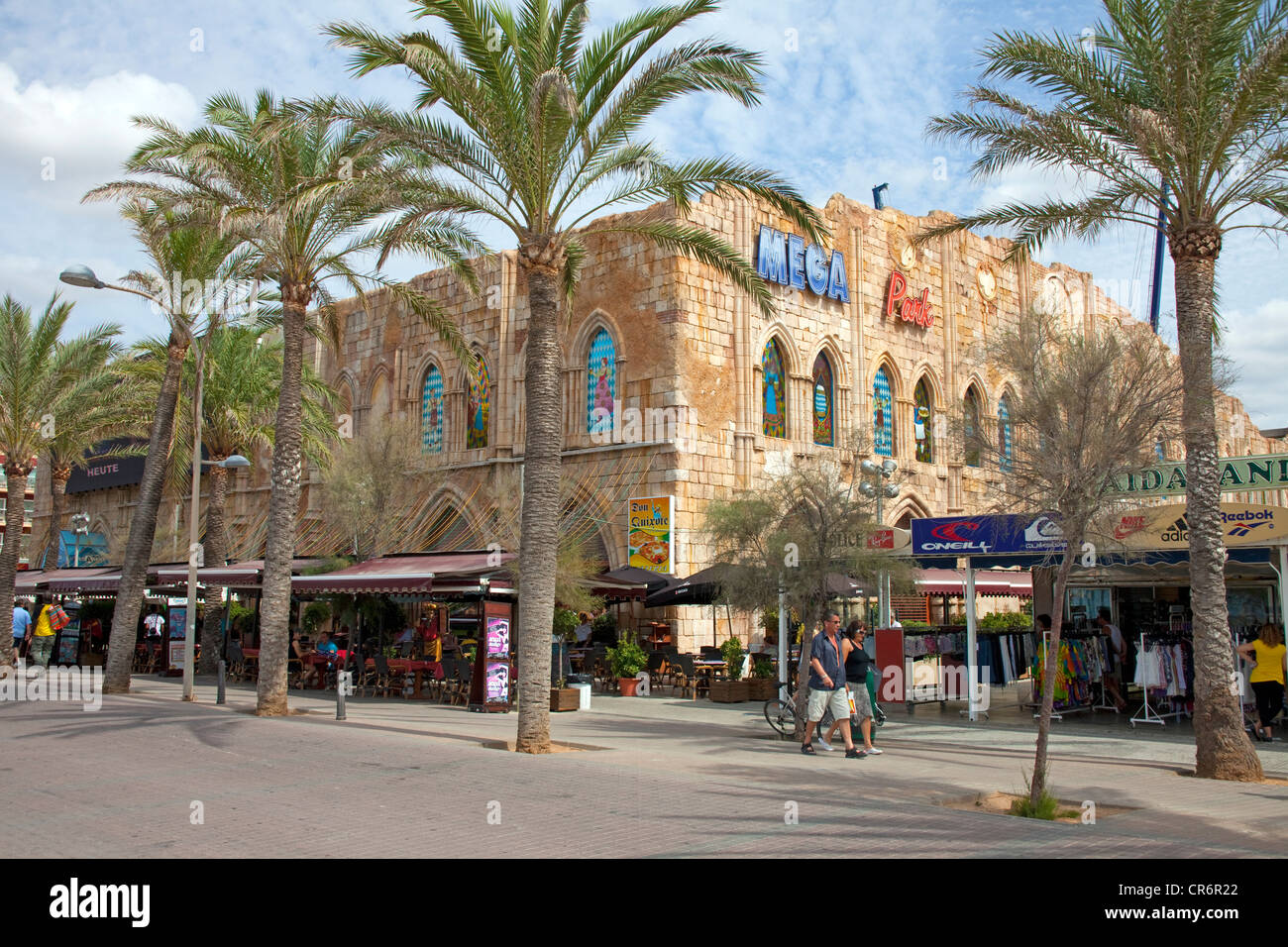 Bierkaiser, popular pub at Ballermann, tourist centre, Playa de Palma, El Arenal, Majorca, Balearic Islands, Spain, - Stock Image