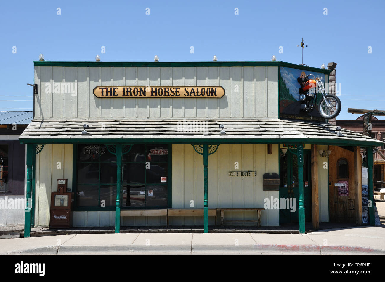 iron horse saloon in williams, arizona (old route 66 town stock