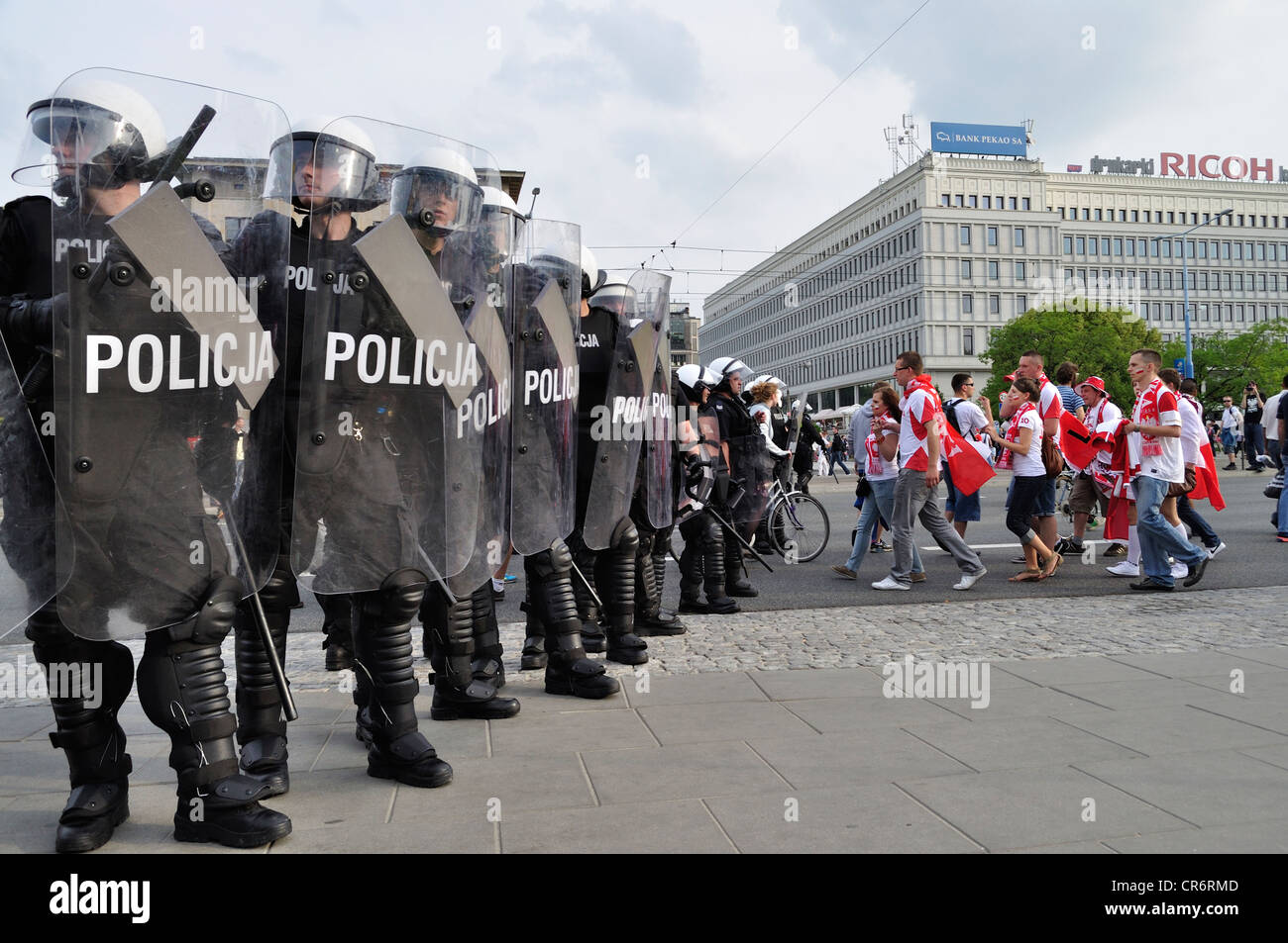 Riot Police at Euro 2012 - Stock Image