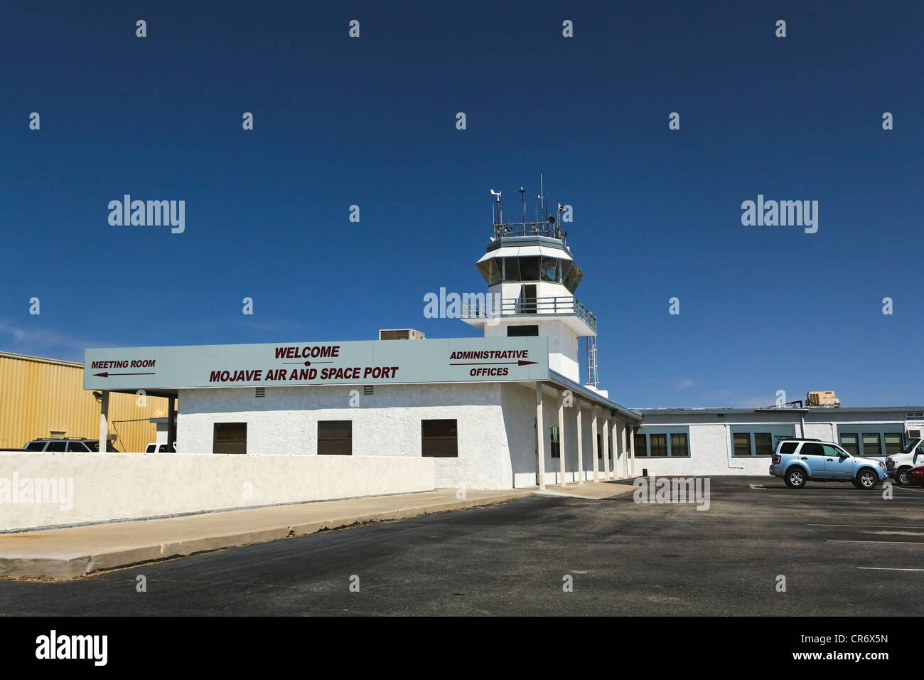 Control Tower of the Mojave Air and Spaceport, Mojave, California - Stock Image