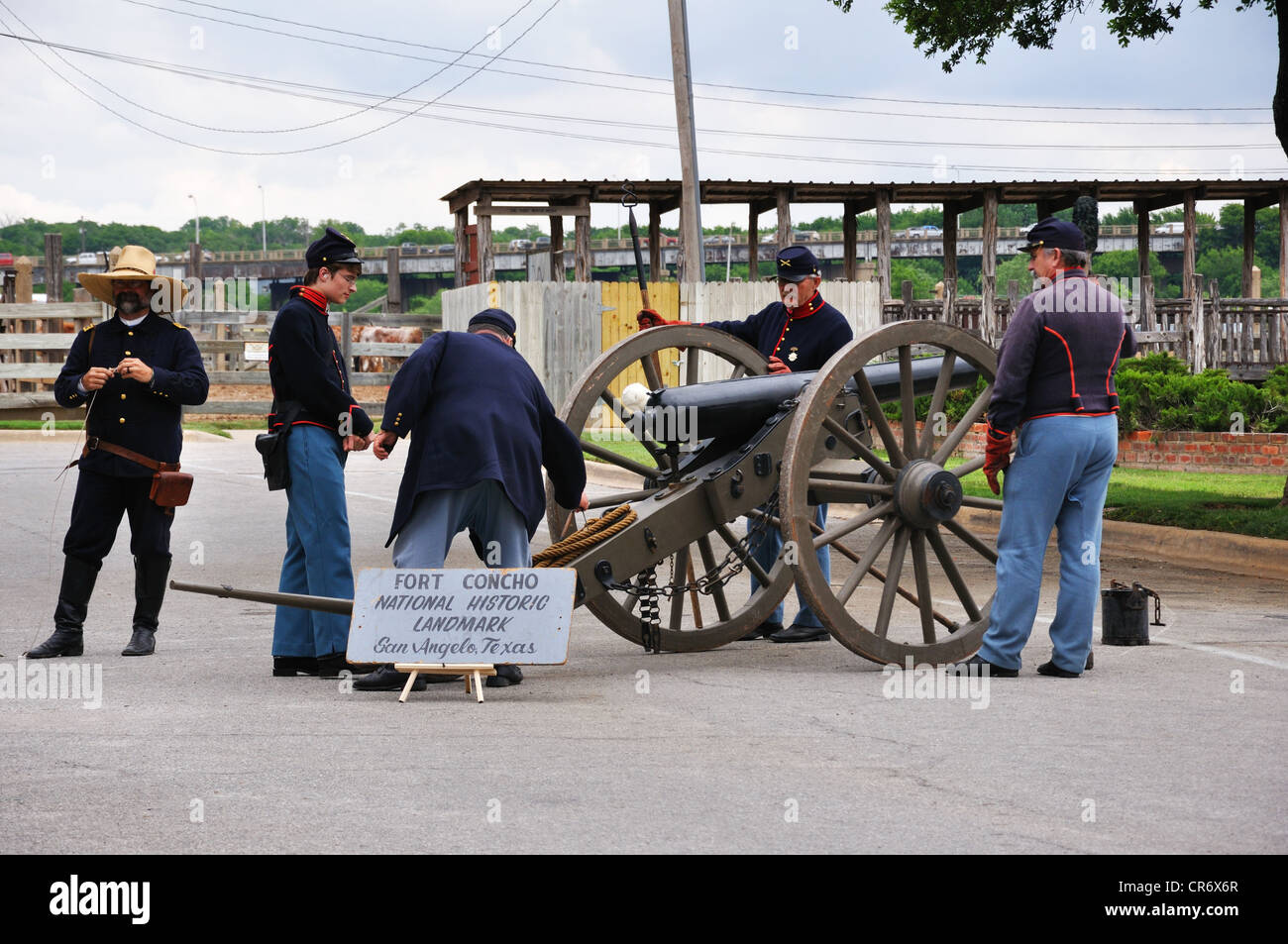 Old West reenactment in Fort Worth, Texas, USA - cannon