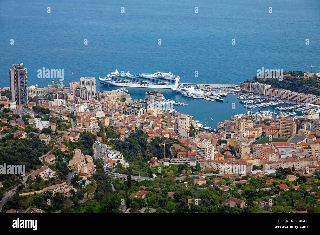 View of the Principality of Monaco, Europe - Stock Image