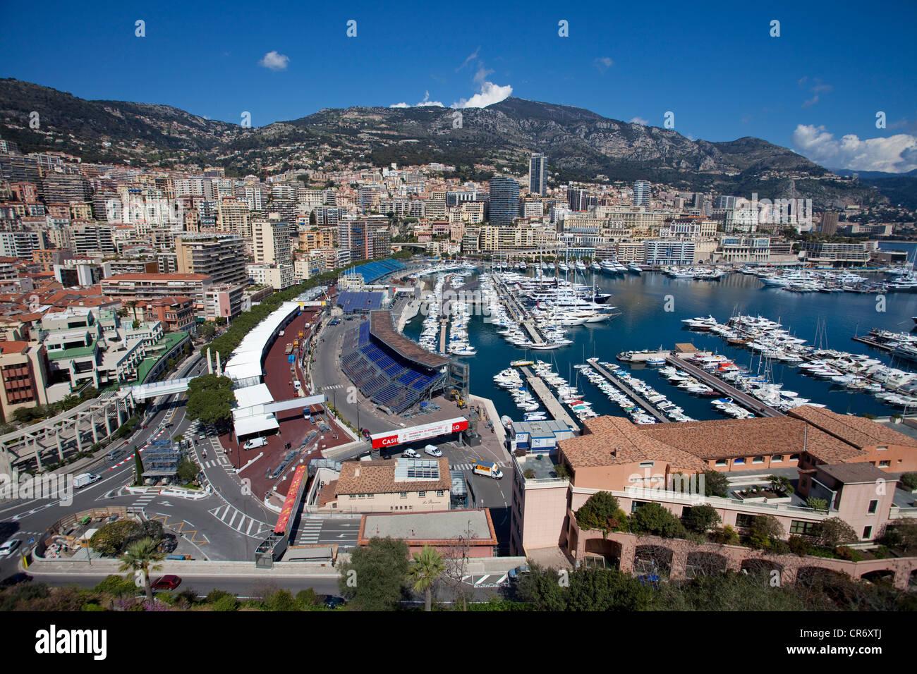 City and harbour of Monaco, Europa - Stock Image
