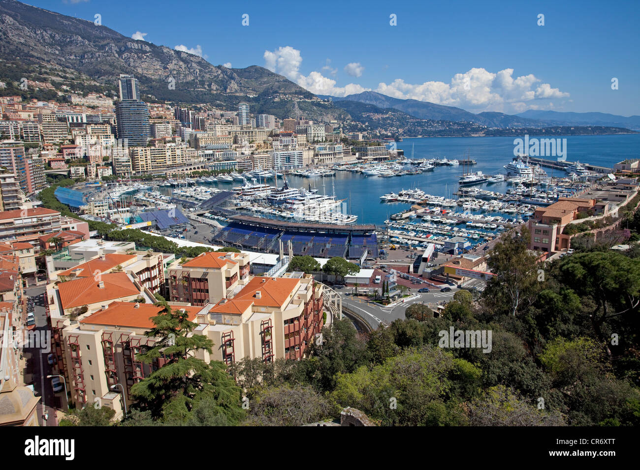 City and harbour of Monaco, Europa - Stock Image