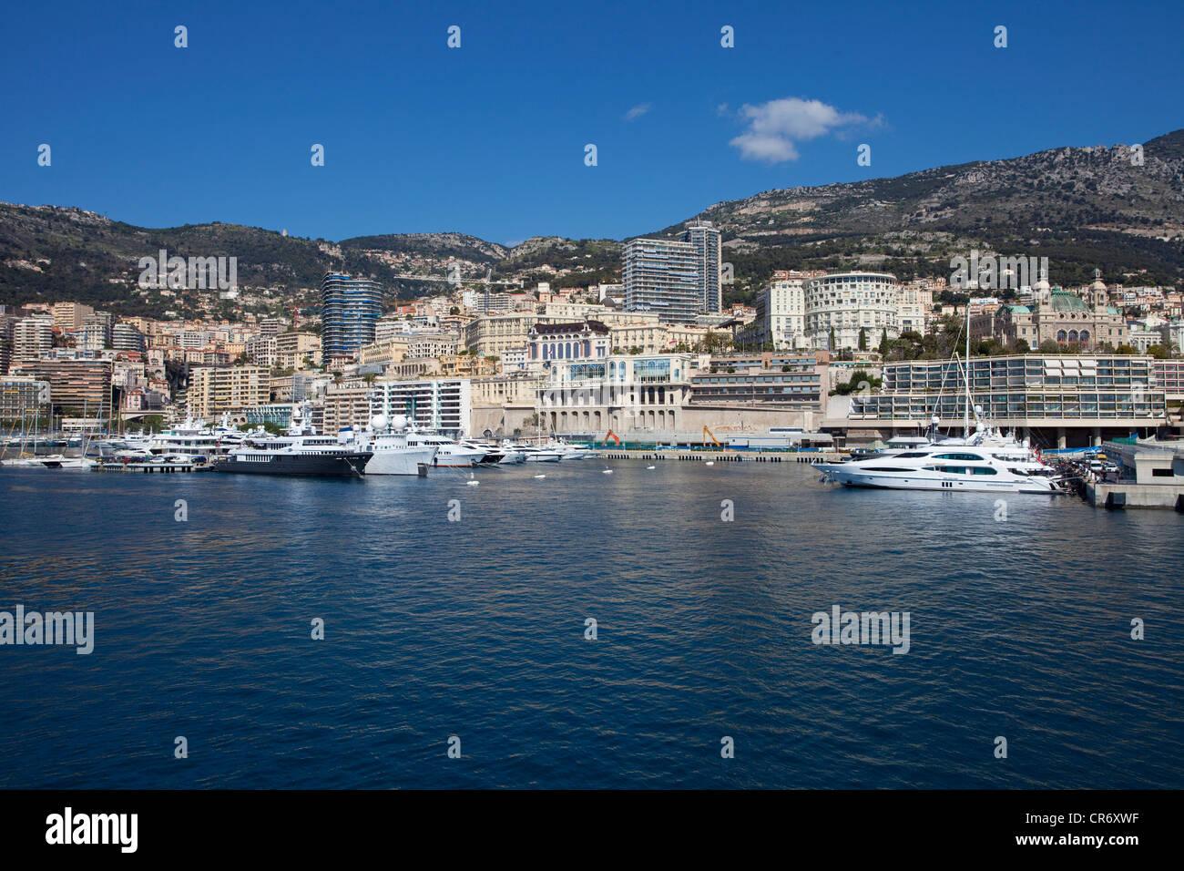 Harbour, Monaco, Europa - Stock Image
