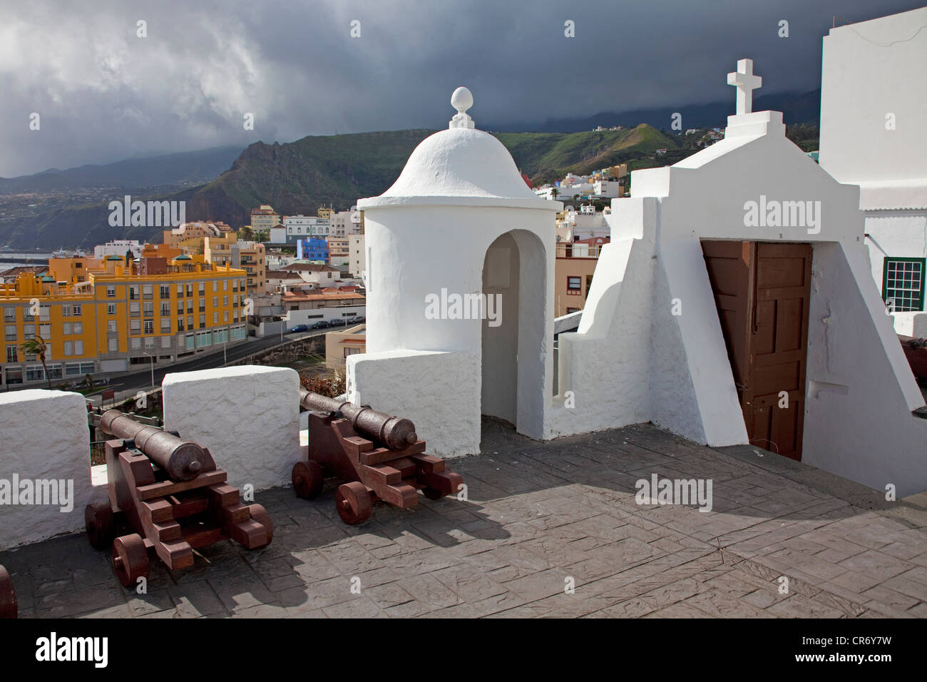 The fortress Castillo de Santa Catalina, Santa Cruz de la Palma, La Palma, Canary Islands, Spain, Europe, Atlantic - Stock Image