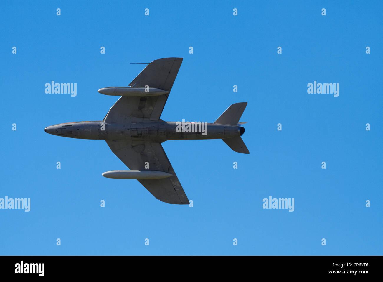 Hawker Hunter jet fighter Stock Photo