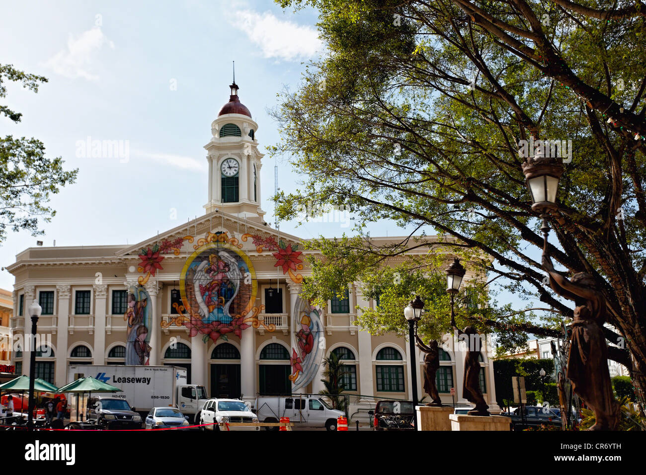 Frontal View of the Mayaguez City Hall, Puerto Rico - Stock Image