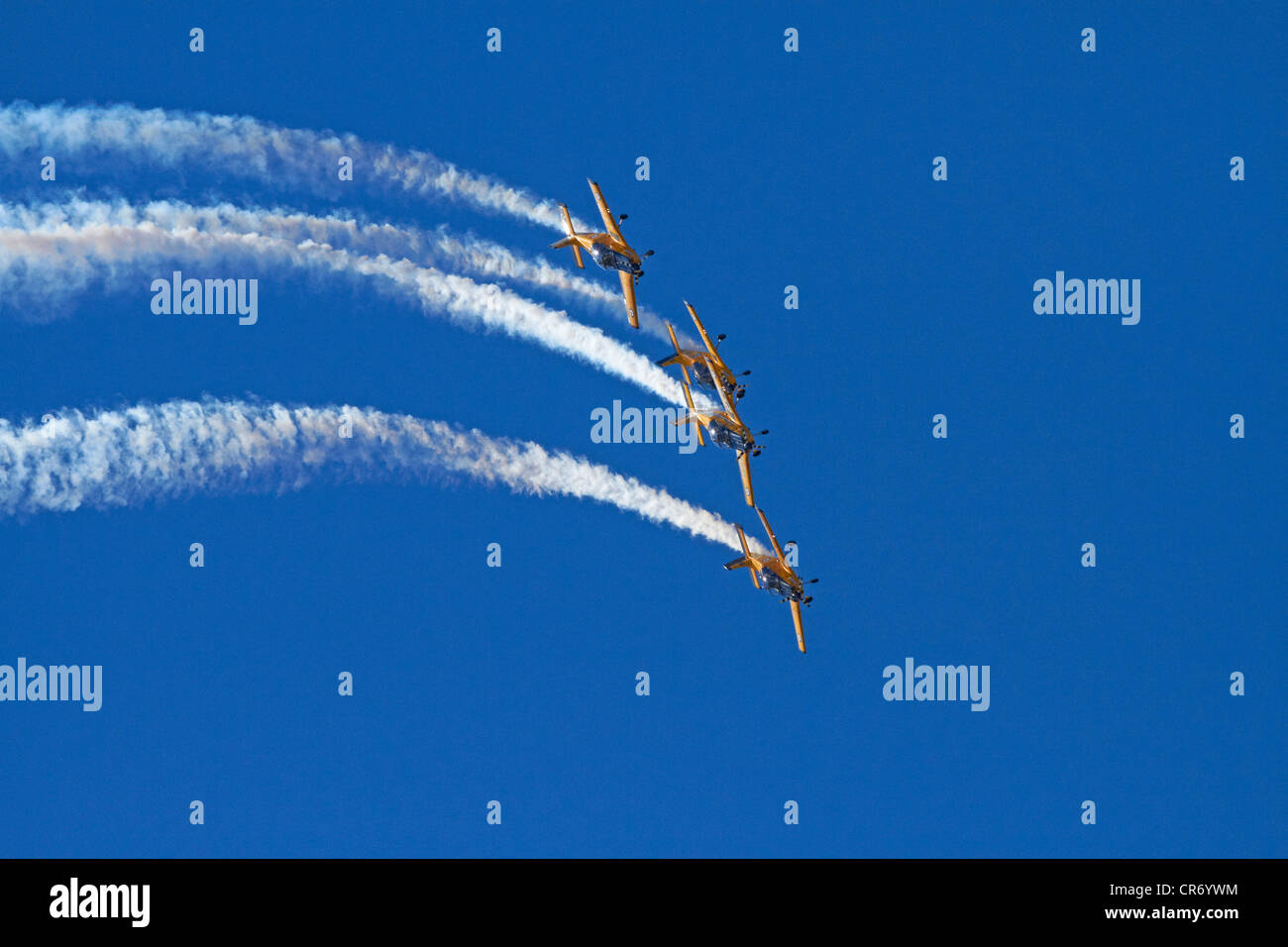 The Red Checkers Aerobatic Display Team with CT-4B Airtrainers - Stock Image