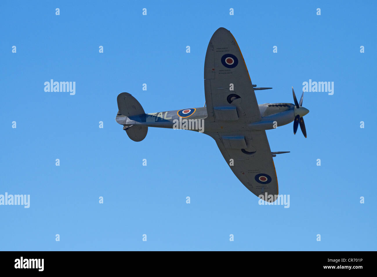 Supermarine Spitfire - British and allied WWII Fighter Plane - Stock Image