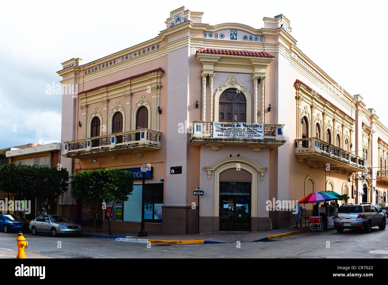 Frontal View of the Casino of Mayaguez, Puerto Rico - Stock Image