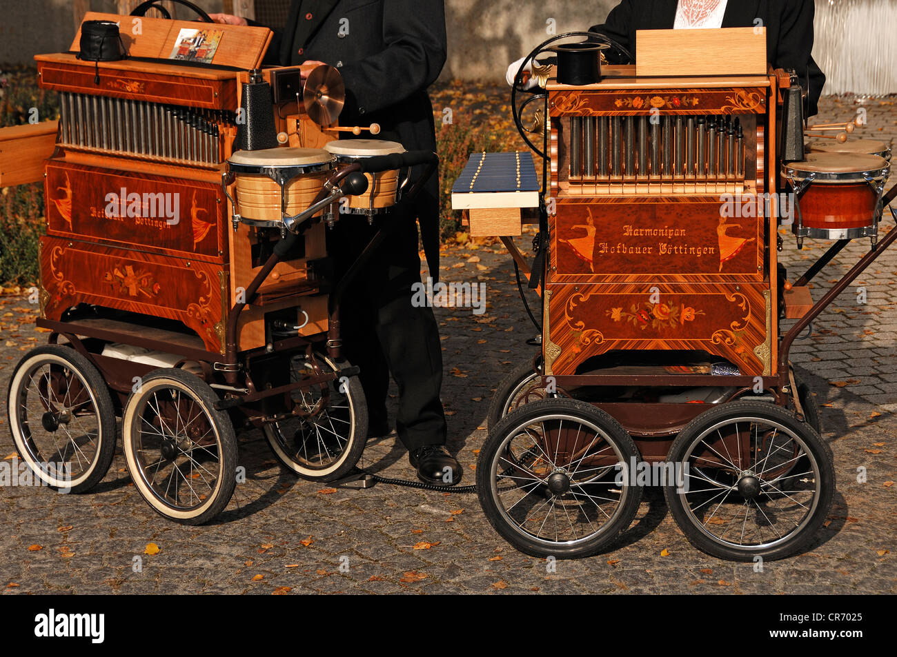 Two Harmonipans, barrel organs, street organs, Lahr, Baden-Wuerttemberg, Germany, Europe - Stock Image