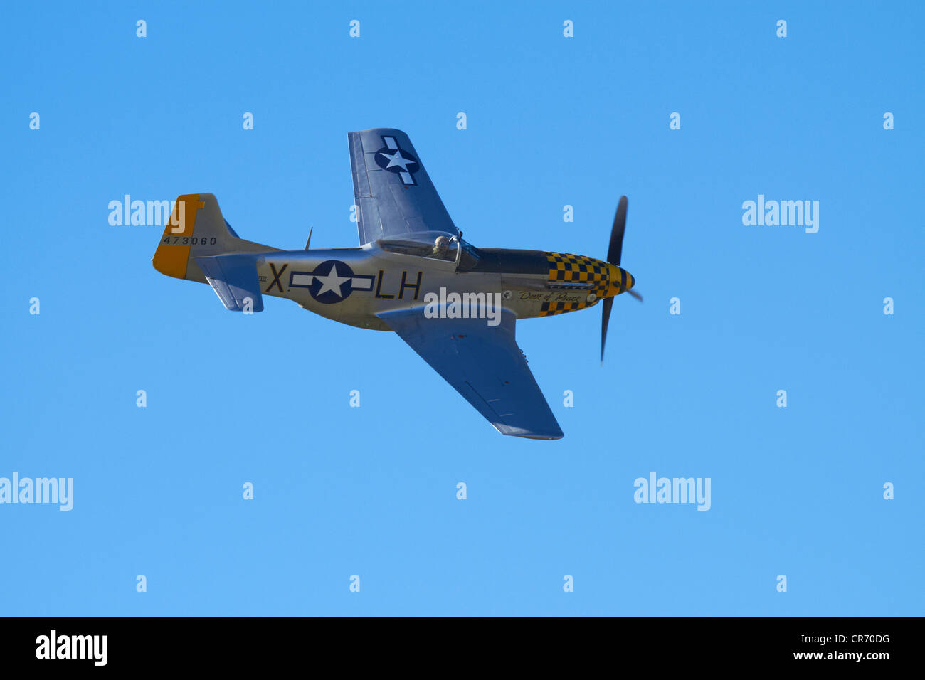 P-51 Mustang - American Fighter Plane - Stock Image