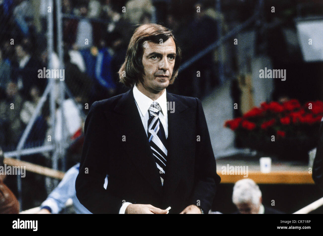 Menotti, Luis Cesar, * 5.11.1938, Argentine football player, coach, half length, during Football World Cup 1978, - Stock Image