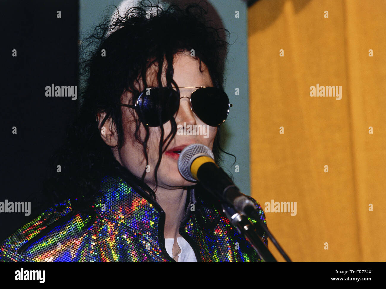 Jackson, Michael, 29.8.1958 - 25.6.2009, American musician (pop singer), audience during his concert, Olympiastadion, - Stock Image