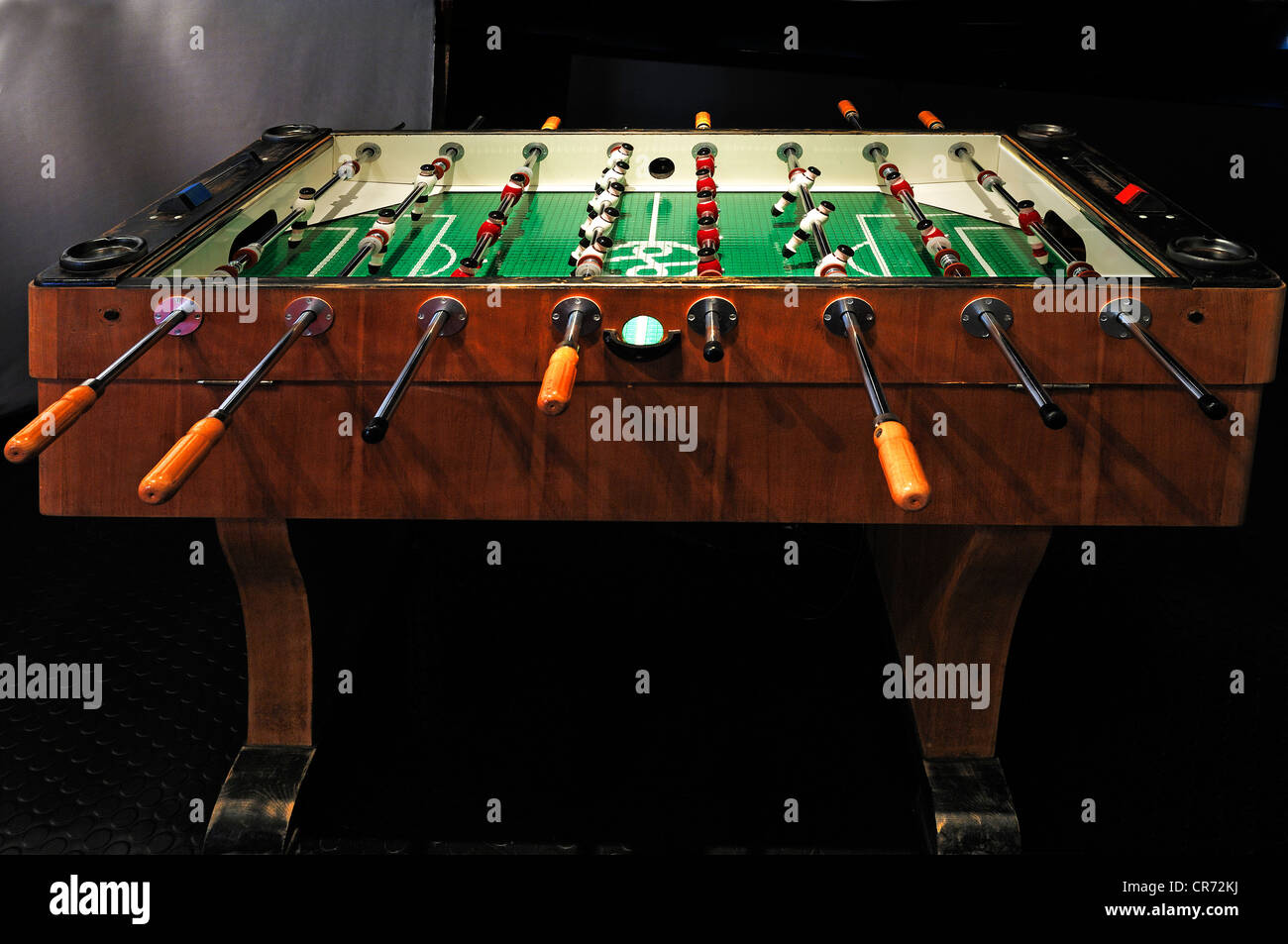 Table football, fussball or foosball table from the 50s, Museum for Industrial Culture, Aeussere Sulzbacher Strasse - Stock Image