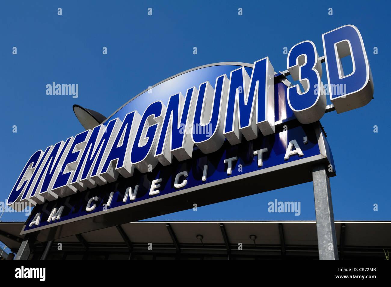 Advertising sign, Cinemagnum 3D cinema, Gewerbemuseumsplatz 3, Nuremberg, Middle Franconia, Bavaria, Germany, Europe - Stock Image
