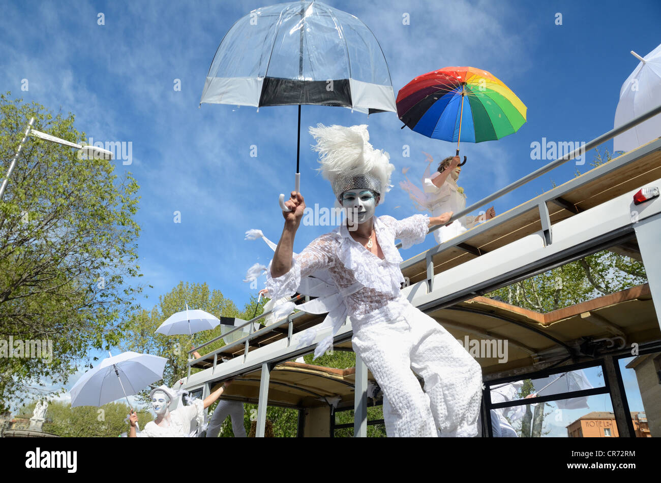 Street Theatre Spring Carnival Aix-en-Provence Provence France - Stock Image