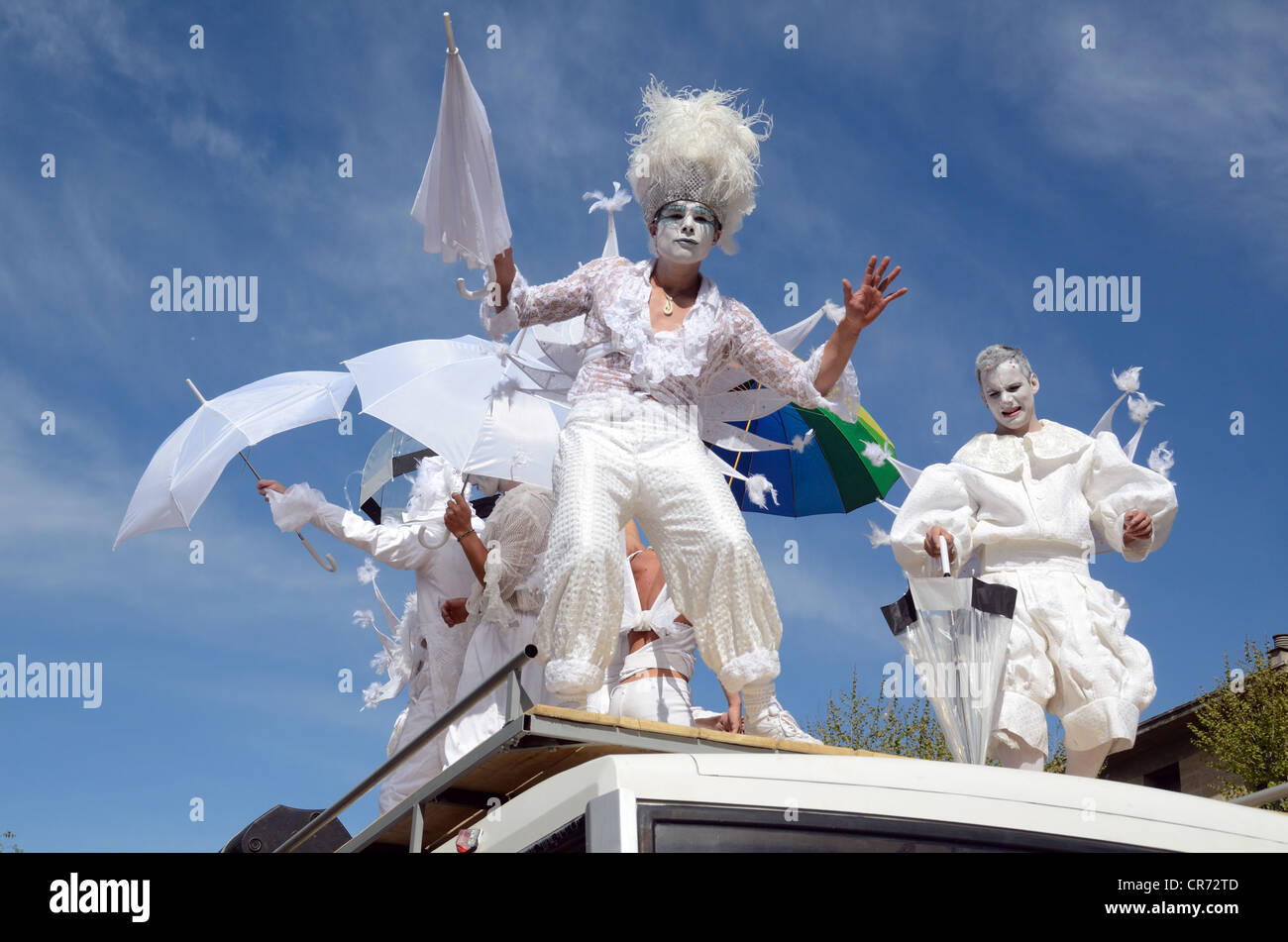 Street Theater or Theatre at the Spring Carnival Aix-en-Provence Provence France - Stock Image