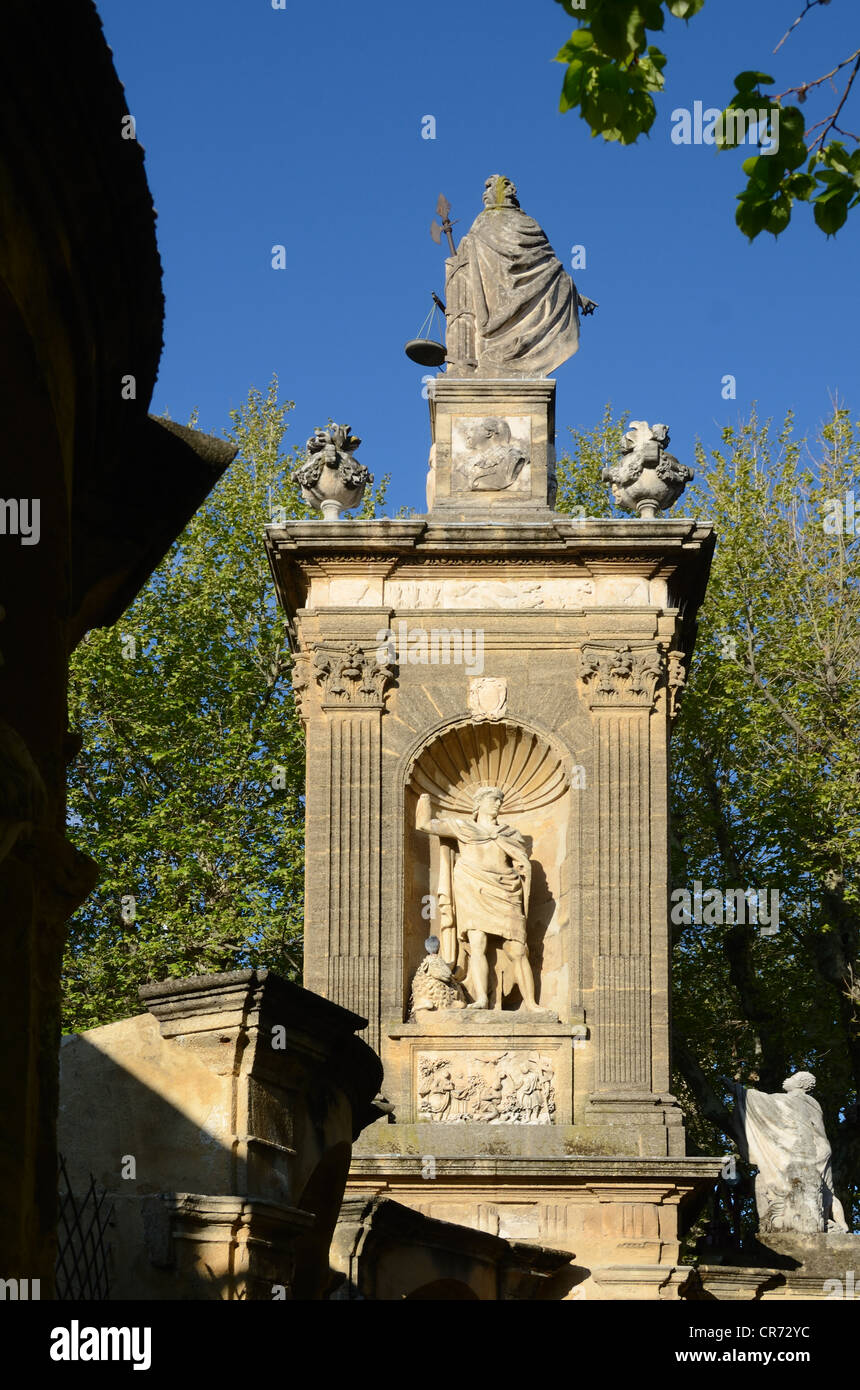 Monument Sec with Statue of Abraham Aix-en-Provence Provence France - Stock Image