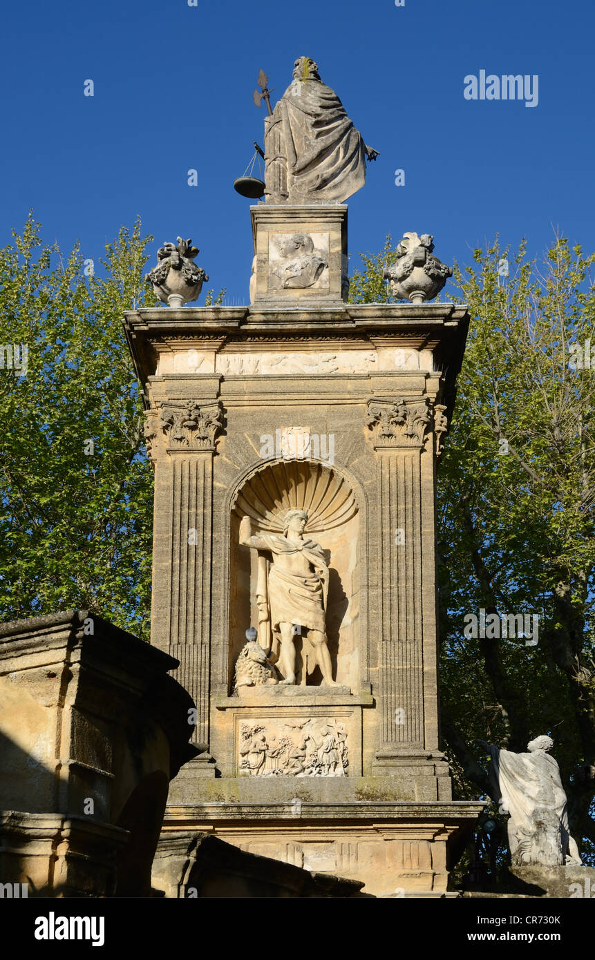 Monument Sec and Statue of Abraham Aix-en-Provence Provence France - Stock Image