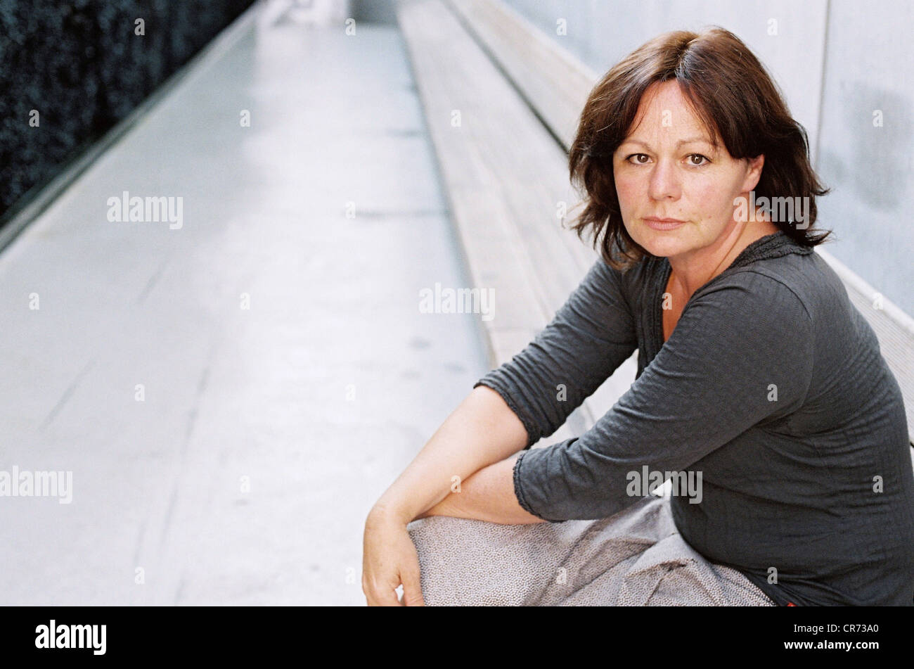 Gerster, Andrea, * 1959, Swiss author / writer, half length, 7. International Literature Festival, Additional-Rights - Stock Image