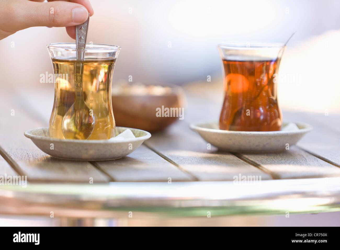 Turkey, Turkish tea, close up - Stock Image