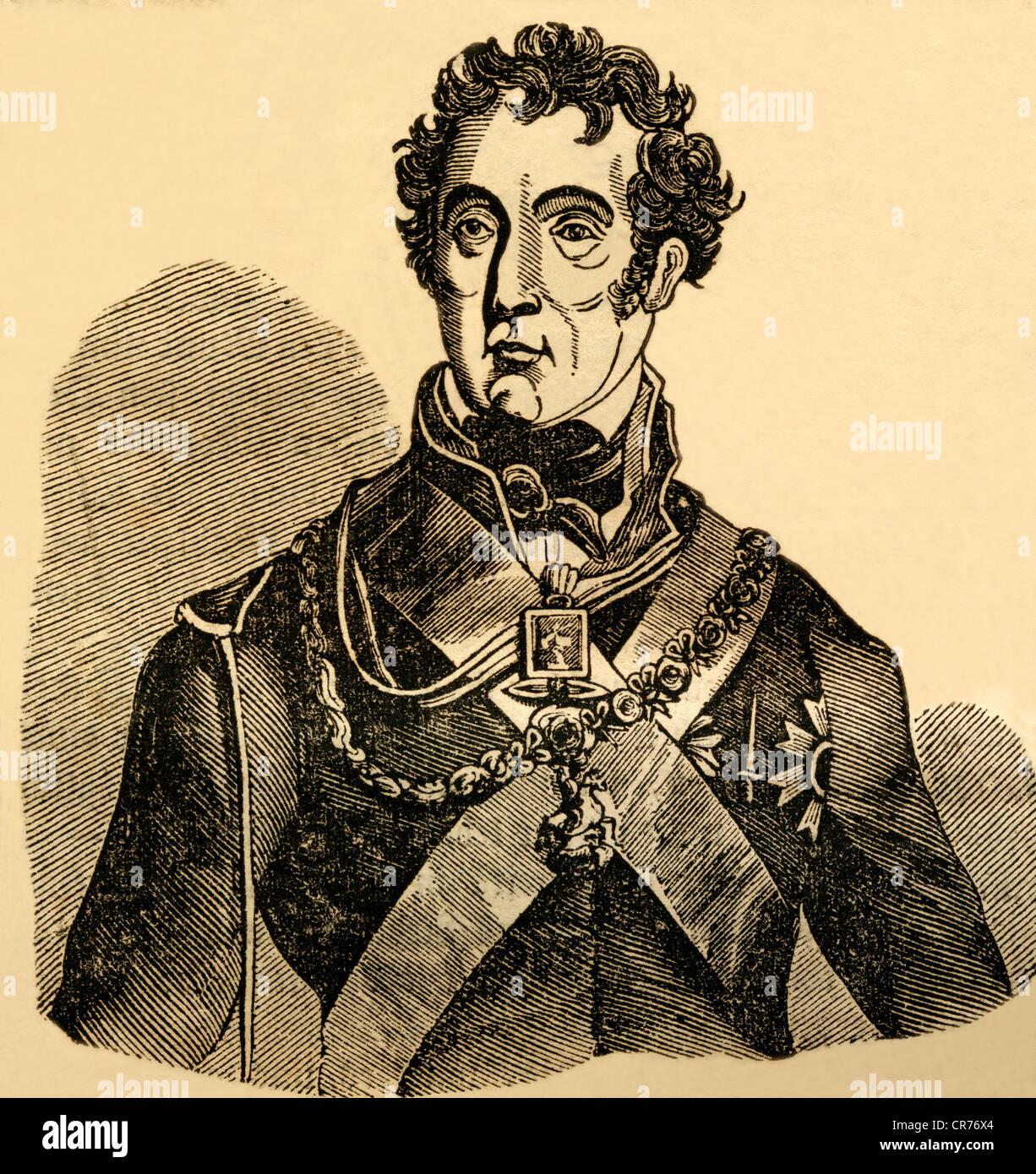 Arthur Wellesley, Duke of Wellington, born 01.05, 1769, died 14.09.1852,  british strategist and politician, statesman, - Stock Image