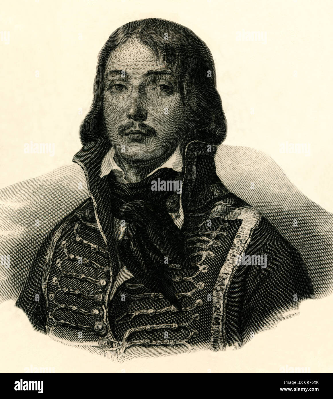 Marceau, Francois Severin, French general, 1.3.1769 - 21.9.1796, copperplate engraving, circa 1850, Artist's - Stock Image