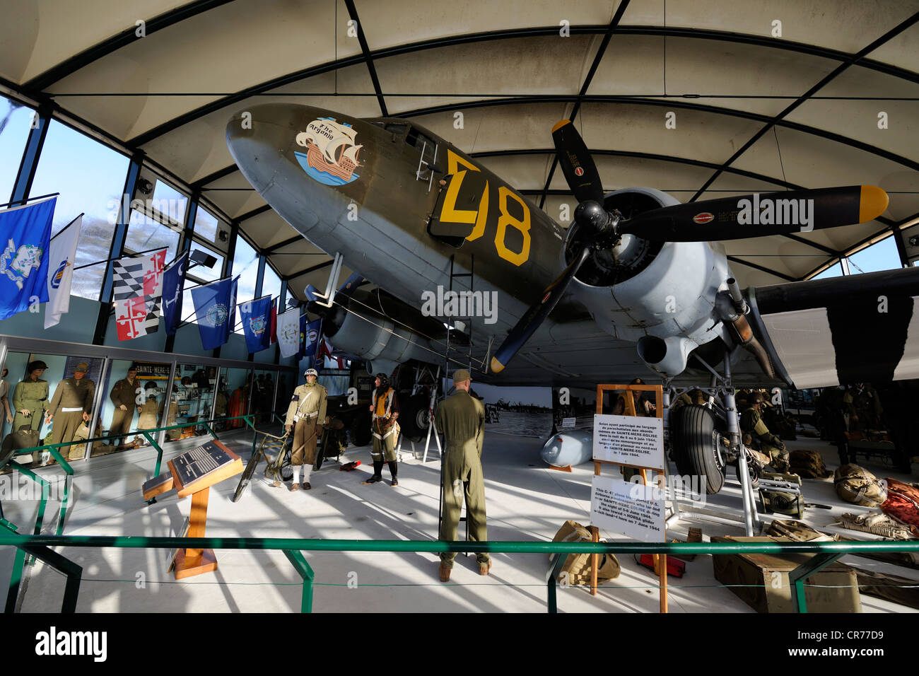 France, Manche, Sainte Mere Eglise, Airborne Museum Stock Photo