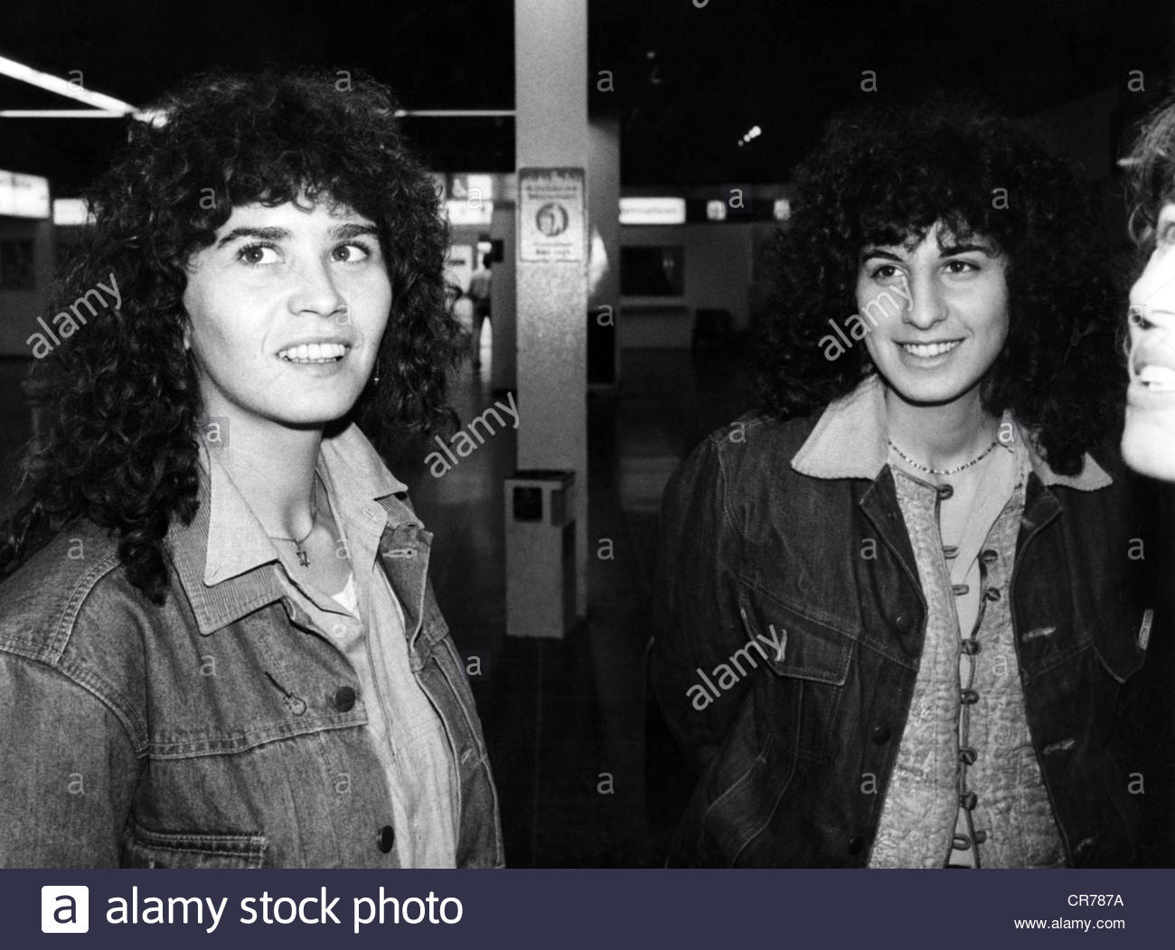 Schneider, Maria, 27.3.1952 - 3.2.2011, French actress (left), half length, with Maria Pia Almadio, 1981, Additional - Stock Image