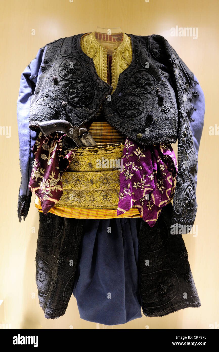 Turkey, Central Anatolia, Ankara, the Ethnographic Museum, 19th century traditional Ottoman outfit - Stock Image